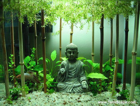 Ornamentos para el acuario. El bambú.