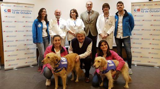 Terapia asistida con animales Hospital 12 de octubre