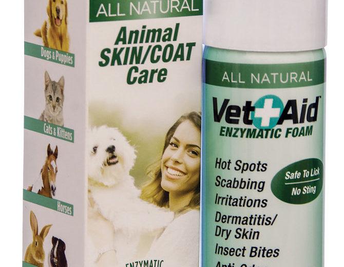 Vet-Aid espuma y spray enzimático en usos dermatológicos