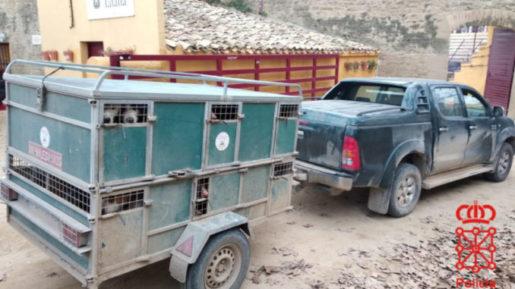 Policía Foral detiene remolque de cazador