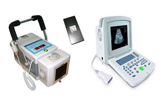 Equipos de ecografía y rayos x portátiles