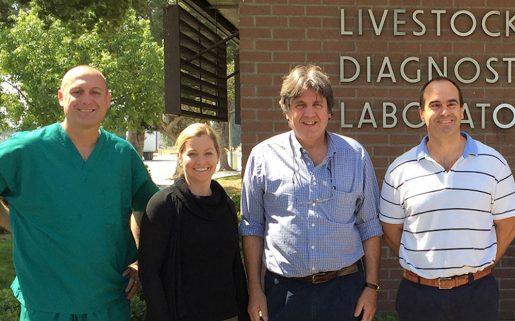 los investigadores de la Universidad de Davis (California) autores del estudio.