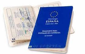 Pasaporte perros CEE