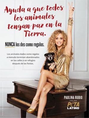 Peta Latino y Paulina Rubio