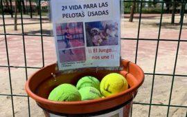 Una segunda oportunidad para las pelotas de tenis y paddle en Pinto