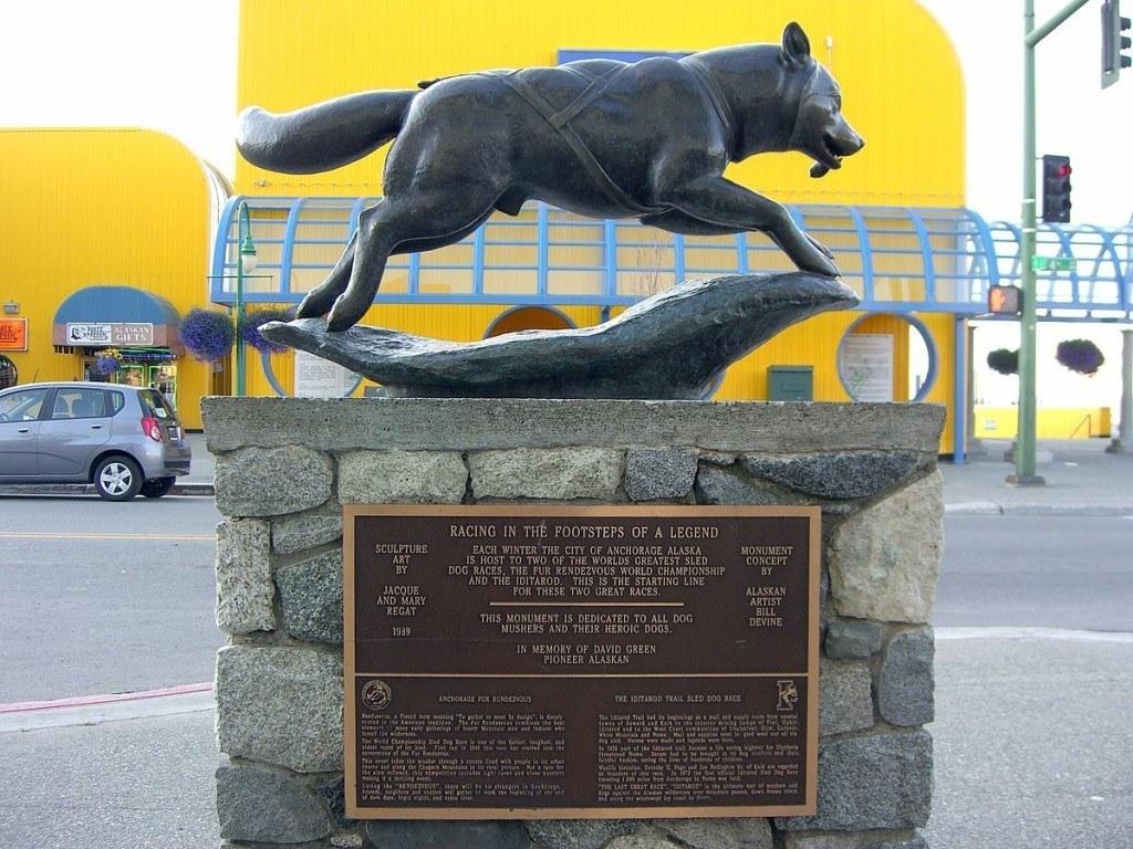 Estatua de Balto en Alaskaa
